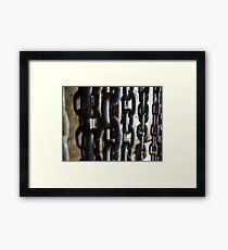 chains Framed Print