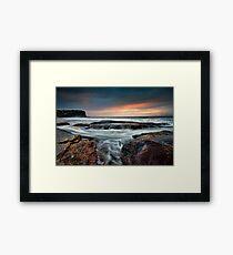 Tidal Swirl Framed Print