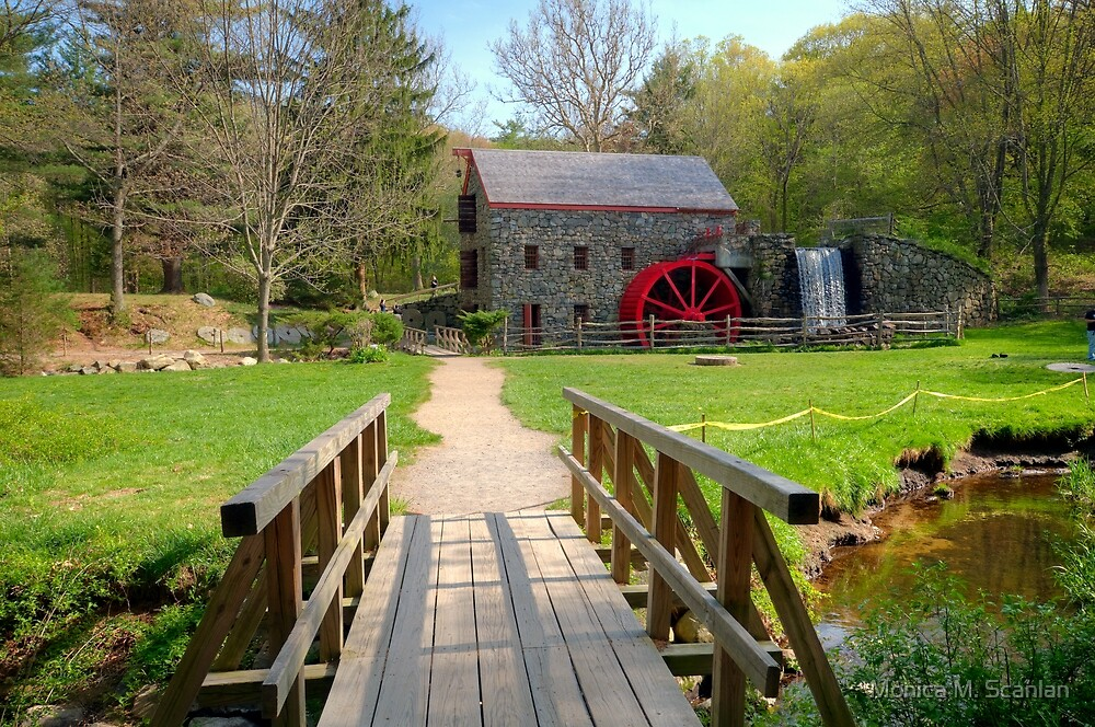 Wayside Inn Grist Mill in Sudbury, MA by Monica M. Scanlan