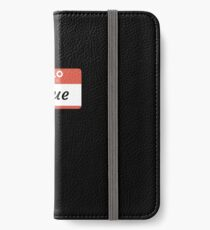 Hello My Name Is Josue - Stick On Funny Name Tag Gift For Someone Named Josue iPhone Wallet/Case/Skin