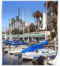 Redondo Beach Harbor 1116 Poster