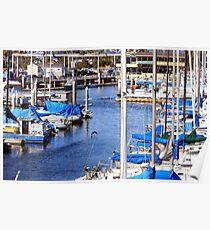 Redondo Beach Harbor 1146 Poster
