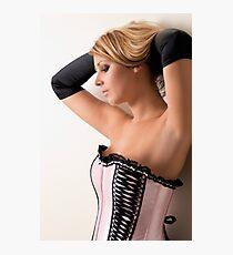 Pink Corset Photographic Print