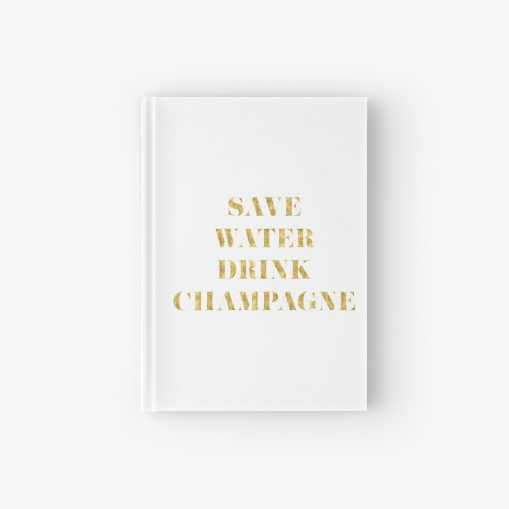 Ahorre agua Beba Champagne - Lámina de oro de imitación Cuaderno de tapa dura