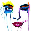 Something About Her-Watercolor by Beau Singer