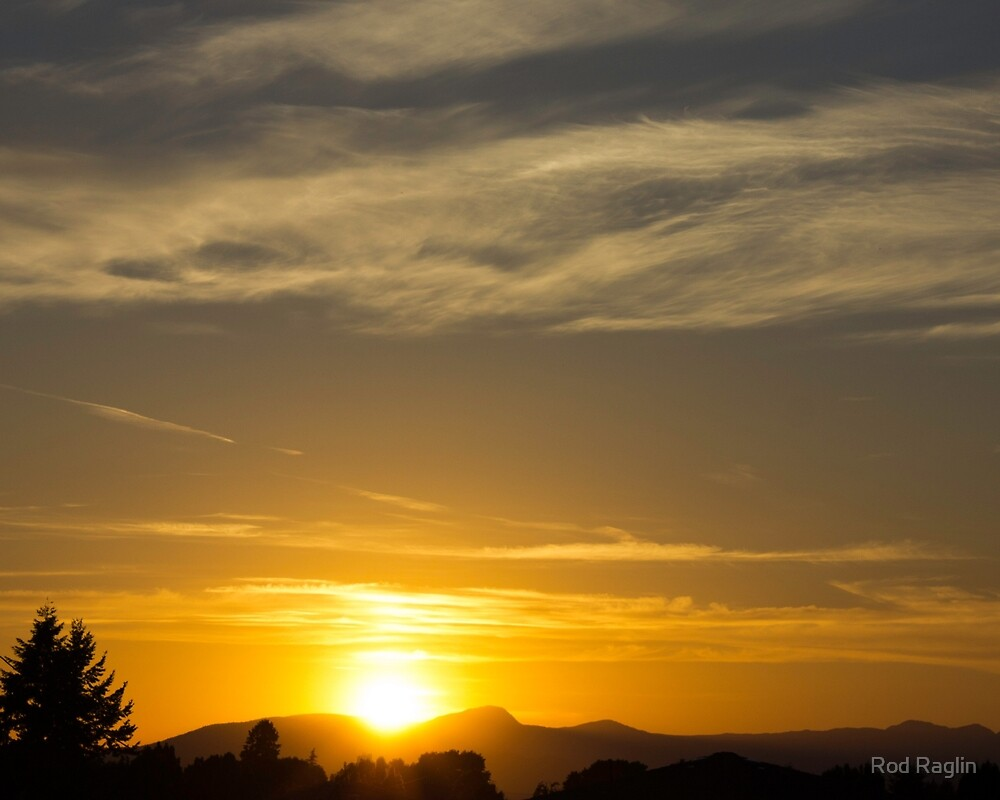 Summer solstice sunset - 2 by Rod Raglin