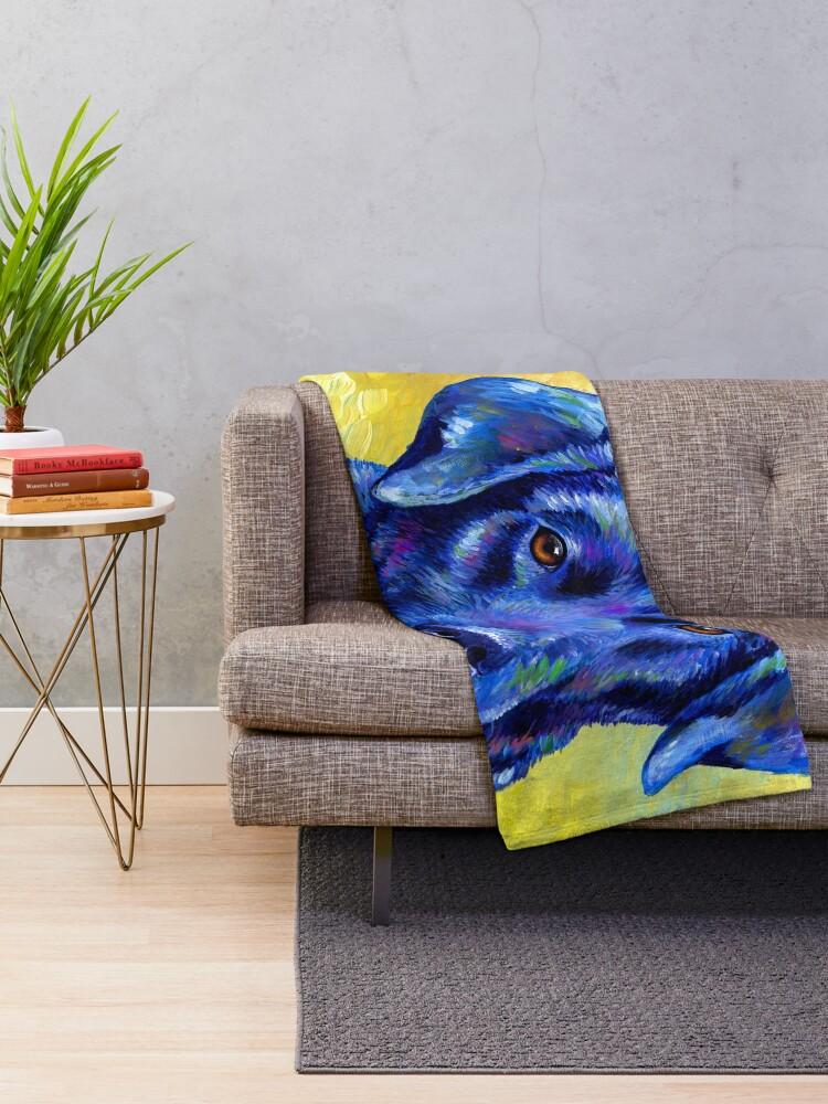 Alternate view of Loyal Companion -  Colorful Labrador Retriever Dog Throw Blanket
