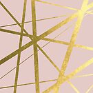 Blush Pink and Gold Geometric Luxe by UrbanEpiphany