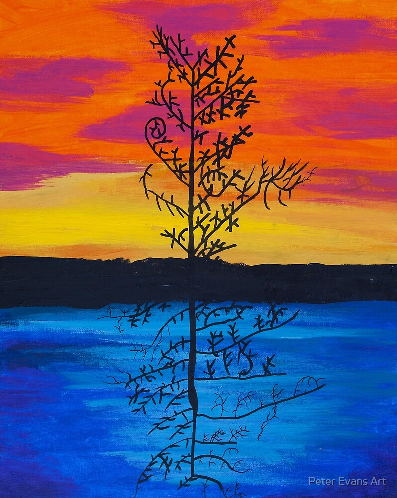 'Tree Reflection' by Ila Richardson (2015) by Peter Evans Art