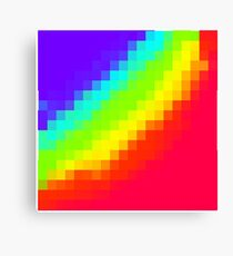 Pixel Rainbow Canvas Print