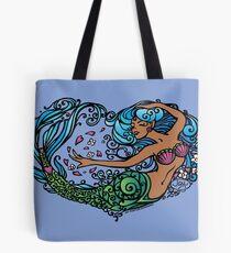 Heart of a Mermaid- Color- Dark Tote Bag