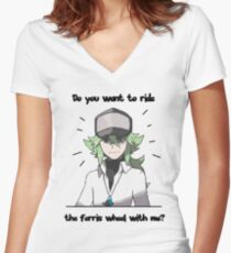 N Harmonia wants to take you for a ride Women's Fitted V-Neck T-Shirt