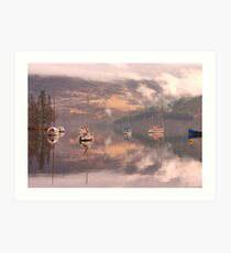 Morning reflections of Loch Ness Art Print