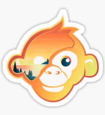 Monkey Head | Sunset Sailing Sticker