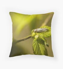 Bug on a leaf Throw Pillow