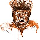 The Wolfman-Watercolor by Beau Singer
