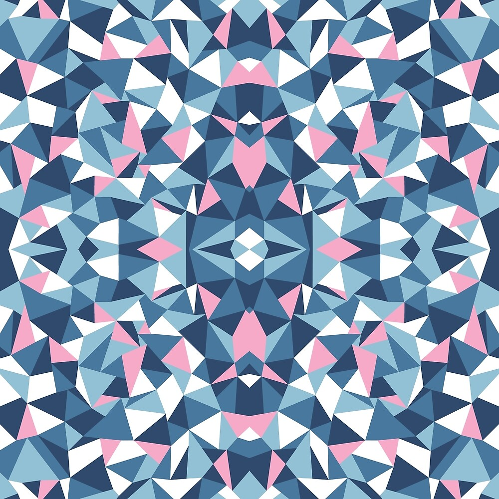 Abstract Collide Blue and Pink by ProjectM