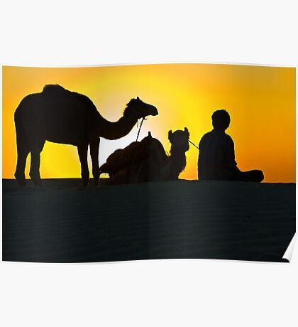 Sunset at Khuri Sand Dunes Poster