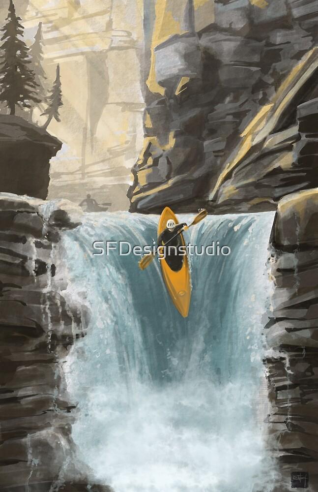 «Kayak de aguas blancas» de SFDesignstudio