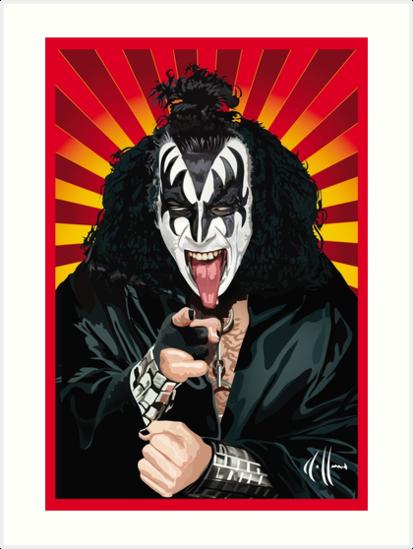 Kiss Gene Simmons vector art by choffmanart