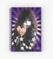 Kiss Paul Stanley vector pop art Spiral Notebook