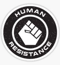 Human Resistance All Black Sticker