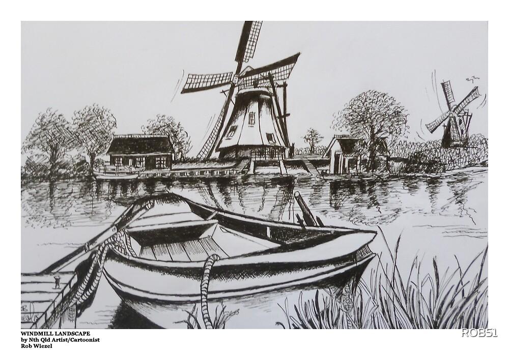WINDMILLS HOLLAND by ROB51