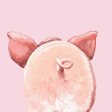 Trasero de cerdo en rosa de bignosework
