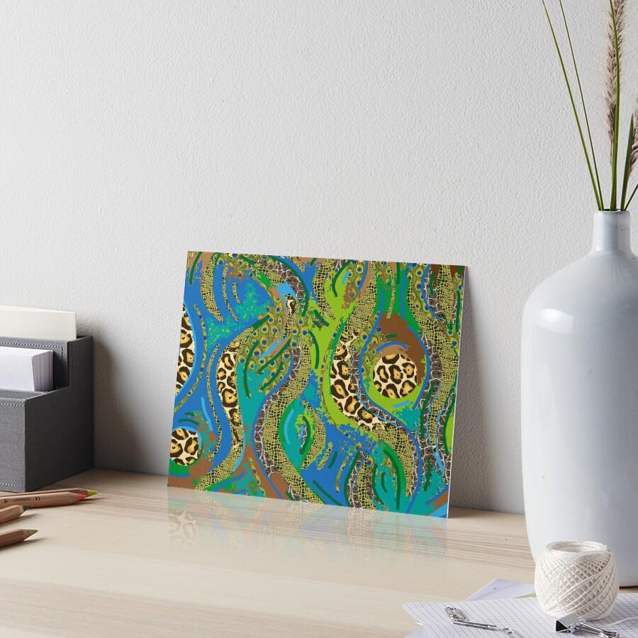 """Muster - Pattern """"Dschungel"""" Galeriedruck"""