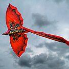 Red Dragon Kite by friendlydragon