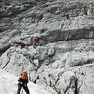 Climbing on the Alpspitze, Germany by Hugh Chaffey-Millar