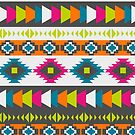 Happy multicolored southwestern pattern by CocosAbstract
