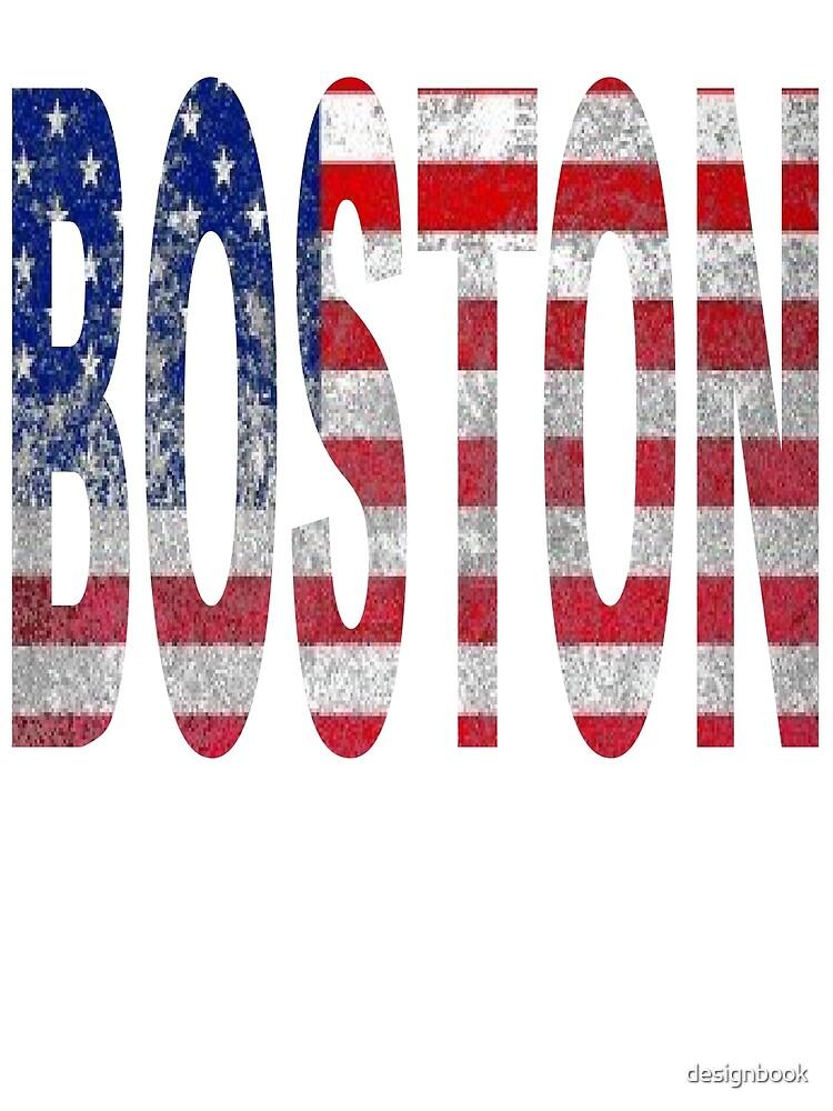 BOSTON AMERICAN FLAG DESIGN by designbook