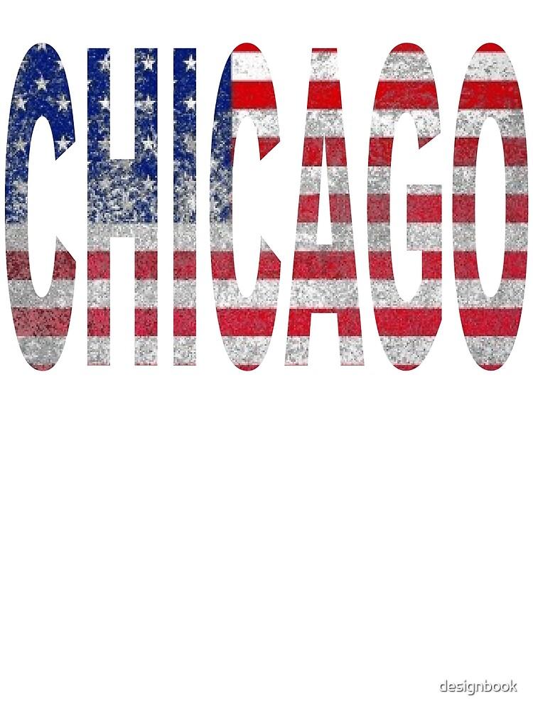 CHICAGO AMERICAN FLAG DESIGN by designbook