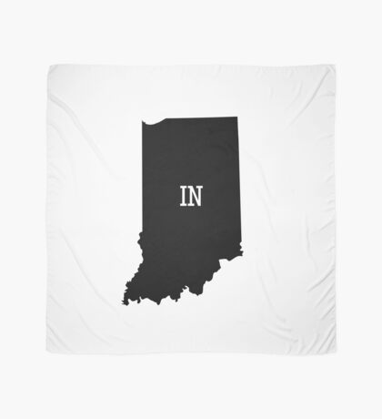 Indiana State Map Abbreviation IN Scarf