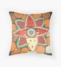 orange watermelon art Throw Pillow