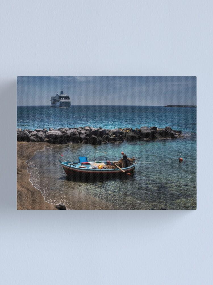 Alternate view of Barche a confronto Canvas Print