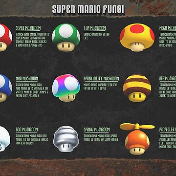 Super Mario Fungi by GoMerchBubble