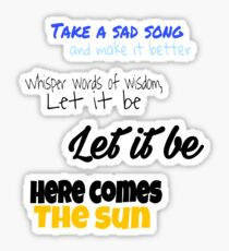 The Beatles Lyrics Starter Pack Sticker