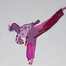 'Jumping Side Thrust Kick' by Bella Hocking (2019) by Peter Evans Art