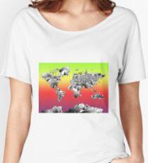 World Map landmarks 4 Women's Relaxed Fit T-Shirt