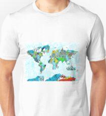 World Map landmarks 5 Unisex T-Shirt
