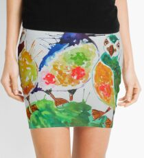 Colourful Puffins Mini Skirt