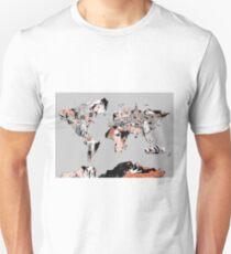 World Map landmarks 6 Unisex T-Shirt