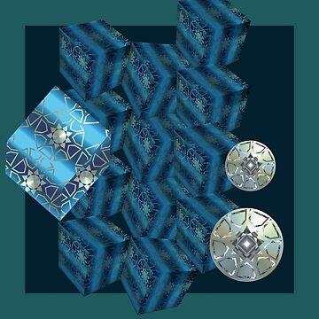 BLUE SILVER 3D MOROCCO. by sana90