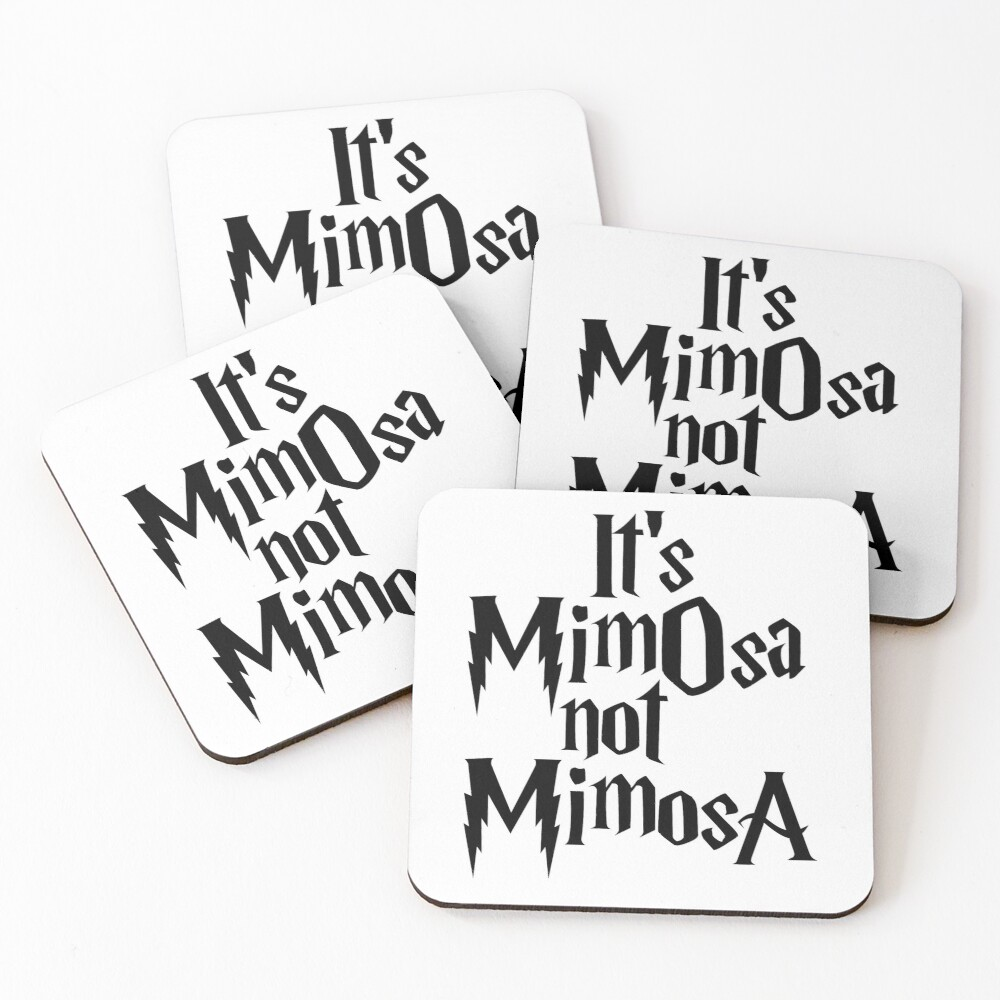 It's MimOsa Coasters (Set of 4)