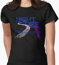 Night Life Is the Right Life (Blue) T-Shirt