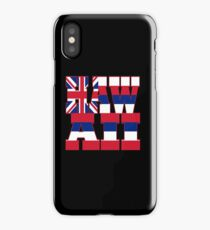 Hawaii state flag typography iPhone Case