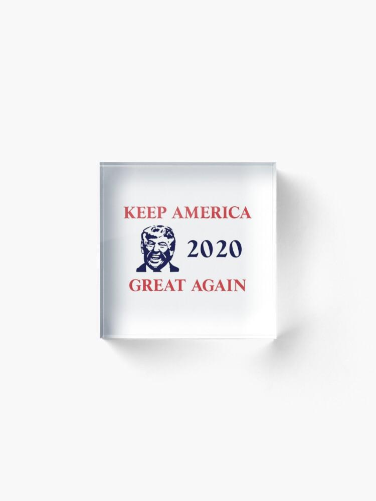 Alternate view of Trump 2020 Keep America Great Again. Gifts Acrylic Block