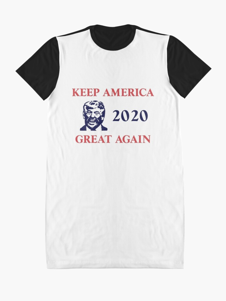 Alternate view of Trump 2020 Keep America Great Again. Gifts Graphic T-Shirt Dress
